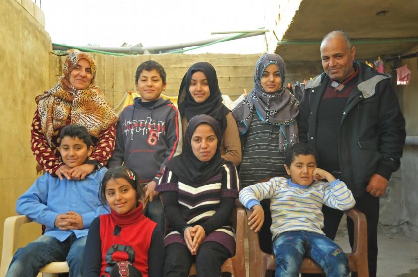 Foto von Ahmad Kaliz und seiner Familie