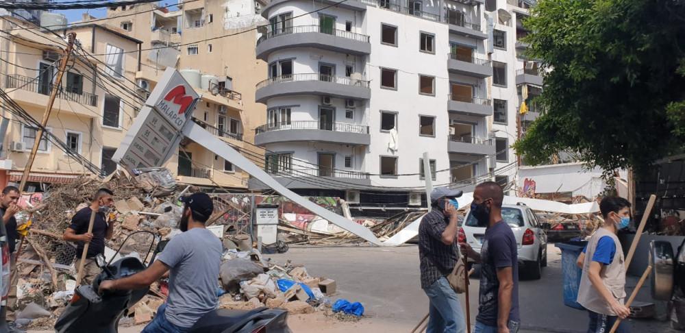 Weiter Teile der Stadt sind zerstört