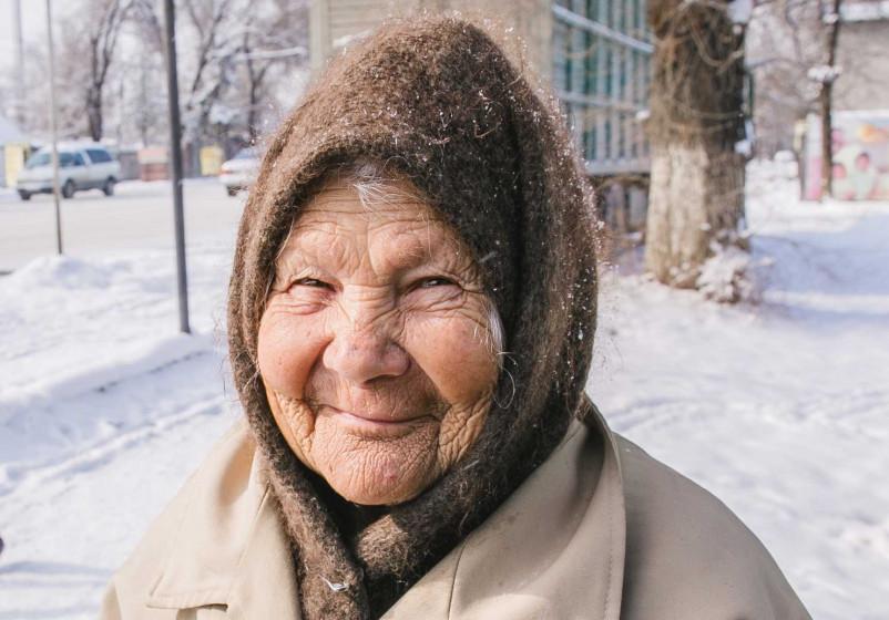 Bild zeigt Aleksandra aus Bischkek im Winter