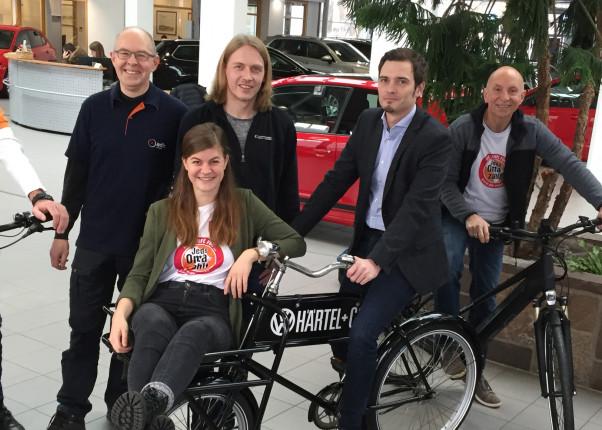 Das Organisations-Team der Fahrradmesse