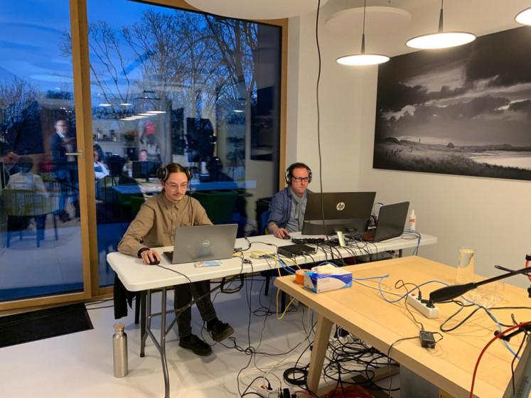 Hendrik Dreyem und Ralf Mersch sorgen für einen reibungslosen Ablauf