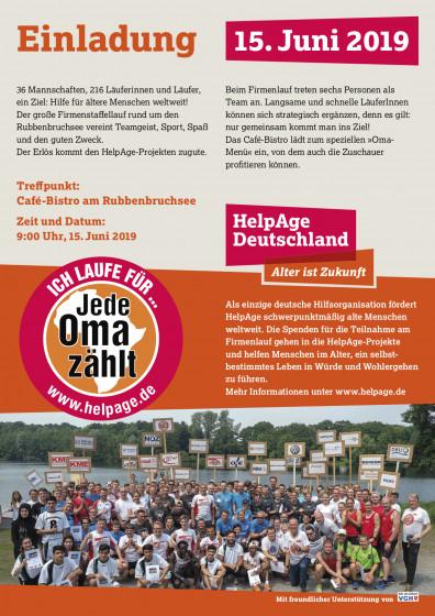 Veranstaltungsflyer Firmenstaffel-Lauf